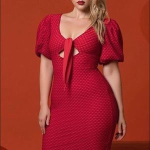 Gorgeous Red Dress by Rue 107, size M, NWT!